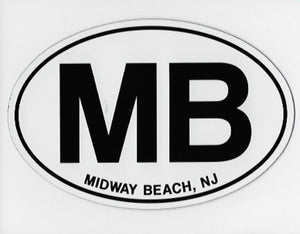 Midway Beach Euro Decal