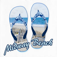 Midway Beach Flip Flops Decal