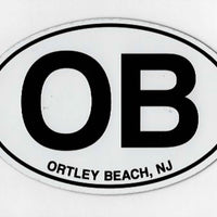Ortley Beach Auto Magnet
