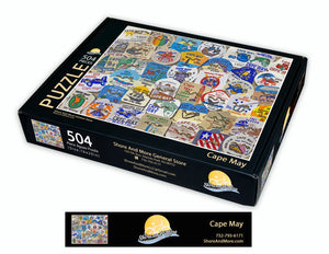 Cape May Beach Badge Puzzle