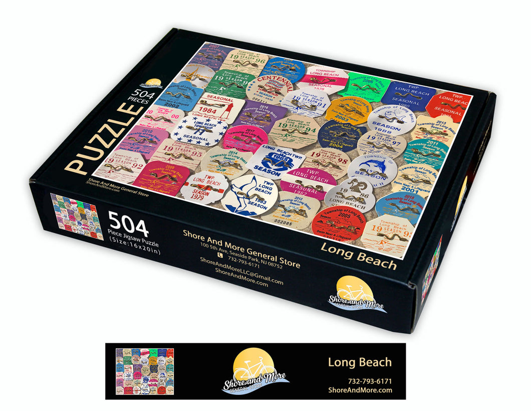 Long Beach Township, LBI Beach Badge Puzzle