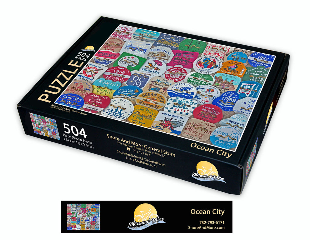 Ocean City Beach Badge Puzzle