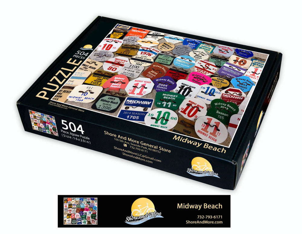 Midway Beach Badge Puzzle