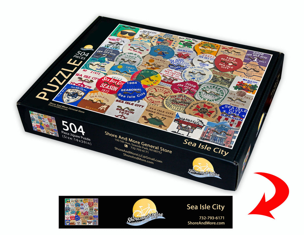 Sea Isle City Beach Badge Puzzle