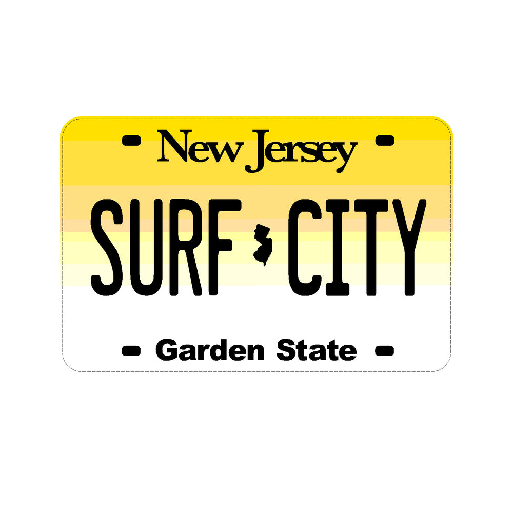 Sticker - Surf City - NJ License Plate