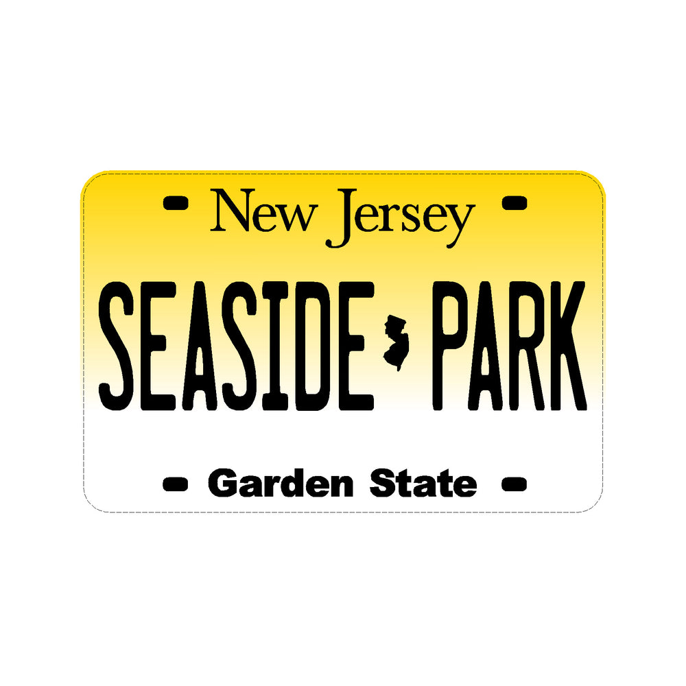 Sticker - Seaside Park - New Jersey License Plate