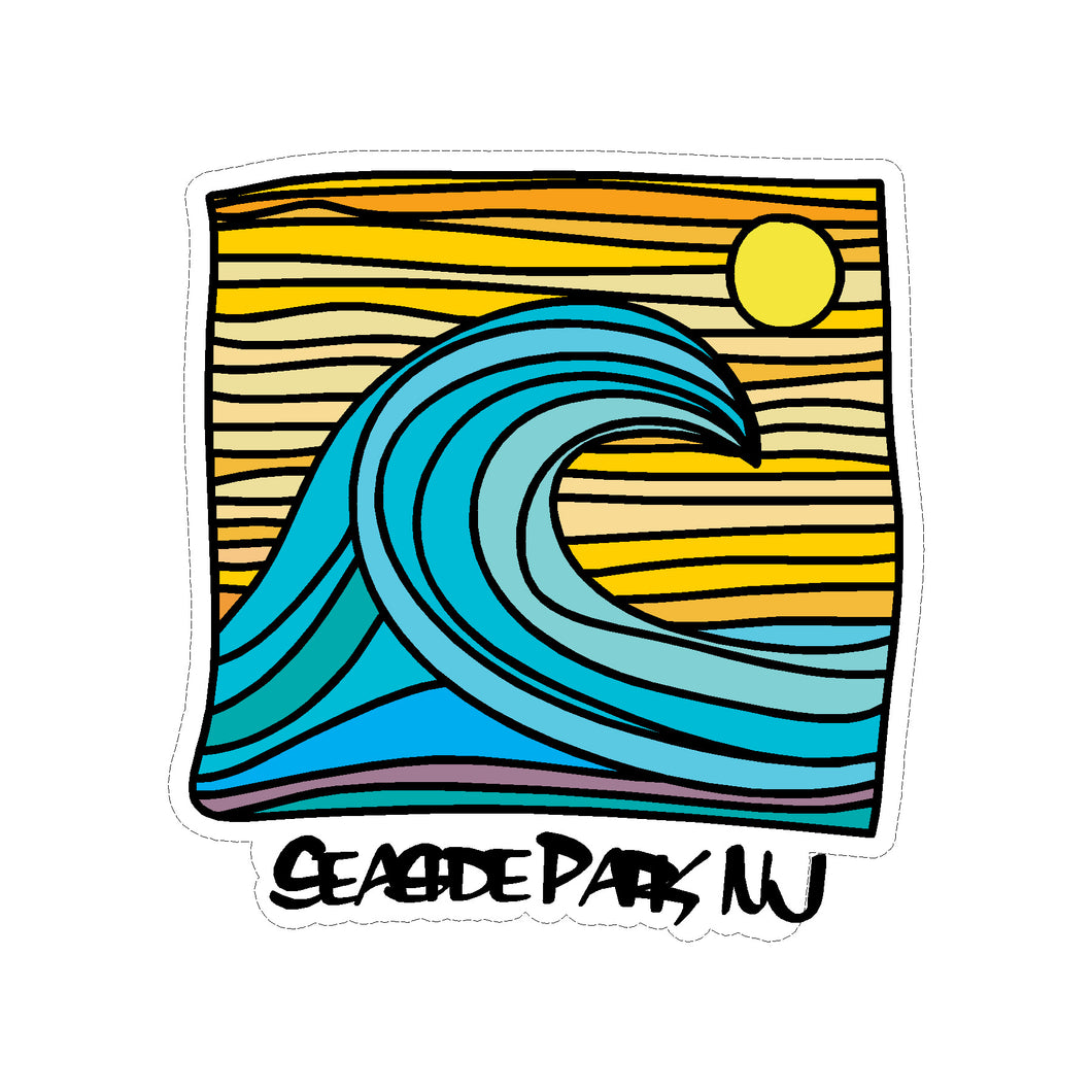 Seaside Park Sun & Wave Sticker