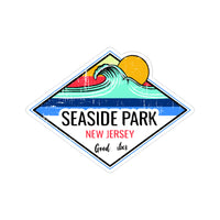 Sticker - Seaside Park - Sun & Wave Good Vibes Sticker
