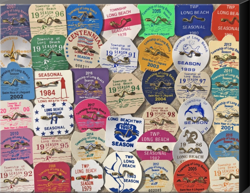 Long Beach Township LBI Beach Badges 11