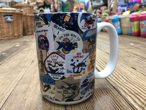 Coffee Mug - Cape May Beach Badges