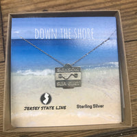 Sea Girt- Beach Badge Necklace - Sterling Silver