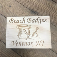 Beach Tag Box - Sand Bucket - Ventnor