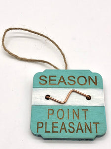 Beach Badge Ornament - Point Pleasant