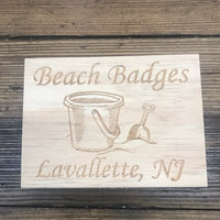 Beach Badge Box - Sand Bucket - Lavallette