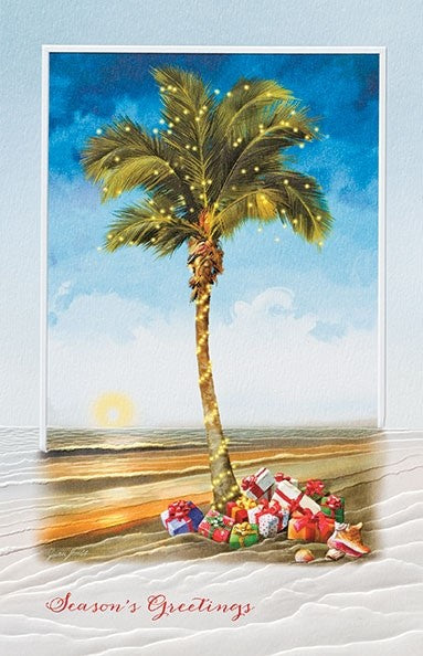 Christmas Card - Christmas Palm (Box of 16)