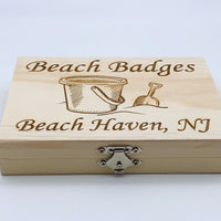 Beach Badge Box - Sand Bucket - Beach Haven