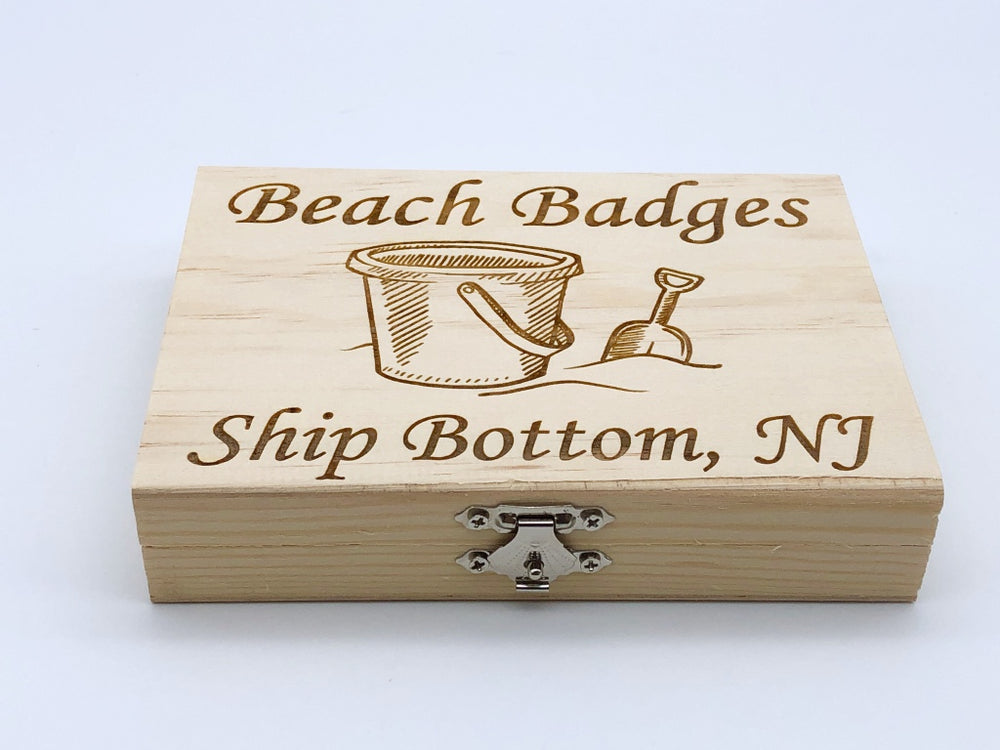 Beach Badge Box - Sand Bucket - Ship Bottom