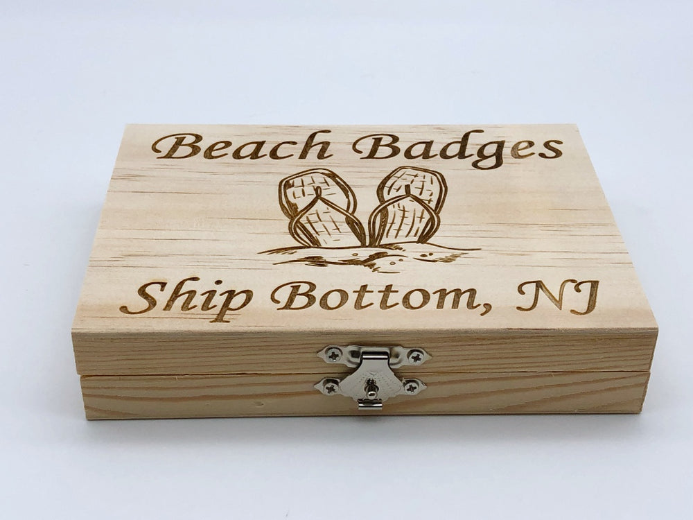 Beach Badge Box - Flip Flops - Ship Bottom