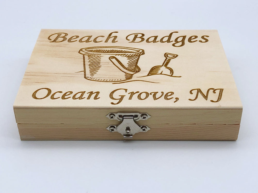 Beach Badge Box - Sand Bucket - Ocean Grove