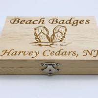 Beach Badge Box - Flip Flops - Harvey Cedars