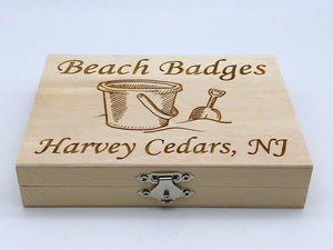 Beach Badge Box - Sand Bucket - Harvey Cedars