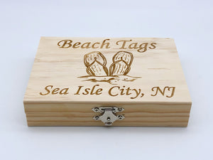 Beach Tag Box - Flip Flops - Sea Isle City