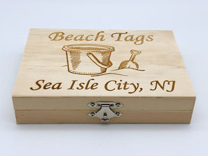 Beach Badge Box - Sand Bucket - Sea Isle City