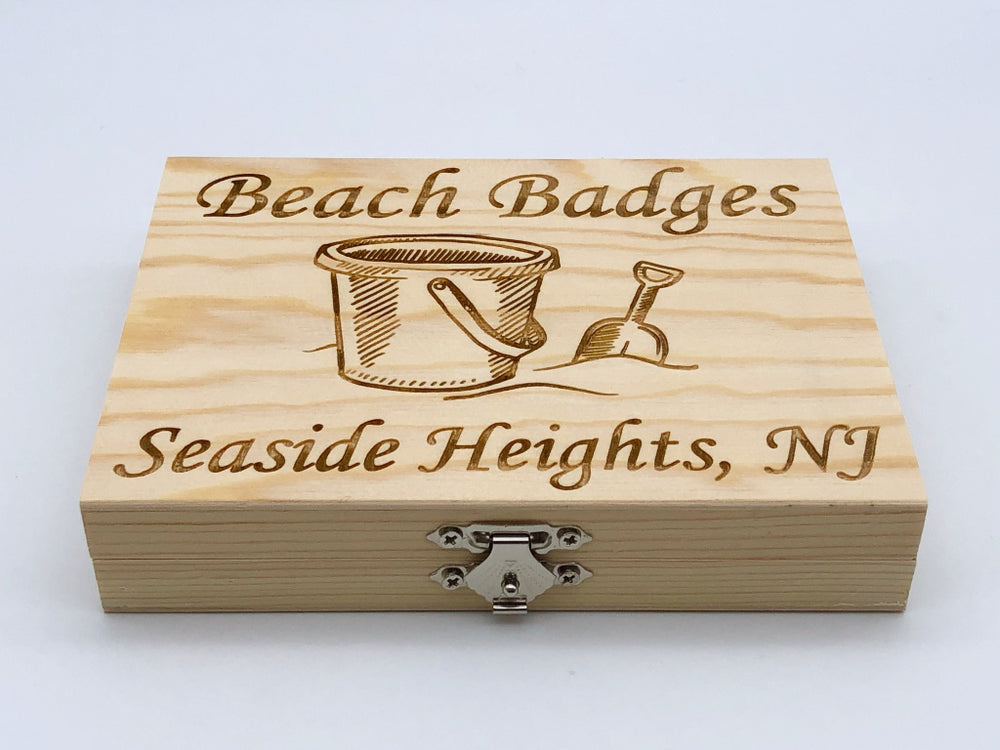 Beach Badge Box - Sand Bucket - Seaside Heights