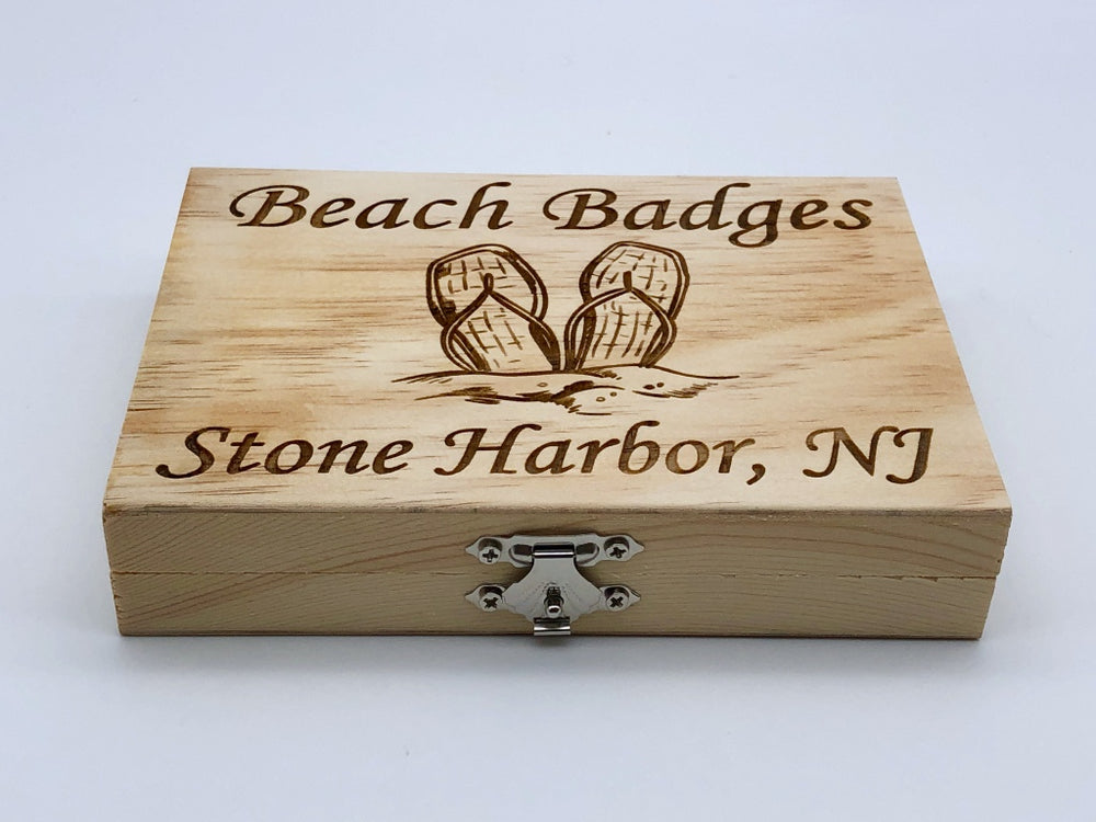 Beach Badge Box - Flip Flops - Stone Harbor