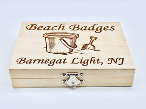 Beach Badge Box - Sand Bucket - Barnegat Light