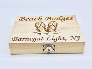 Beach Badge Box - Flip Flops - Barnegat Light