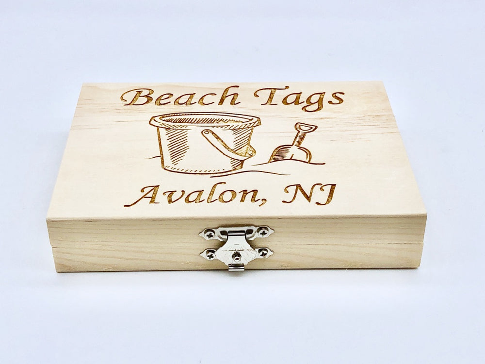 Beach Tag Box - Sand Bucket - Avalon