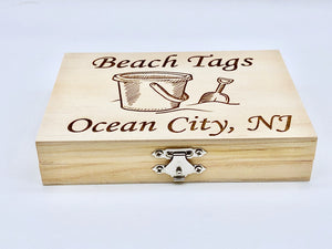 Beach Badge Box - Sand Bucket - Ocean City