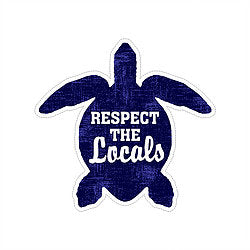 Sticker - Turtle Respect the Locals