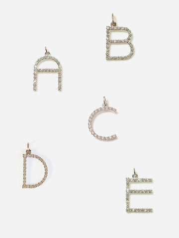 Diamond Letters - WHITE Gold