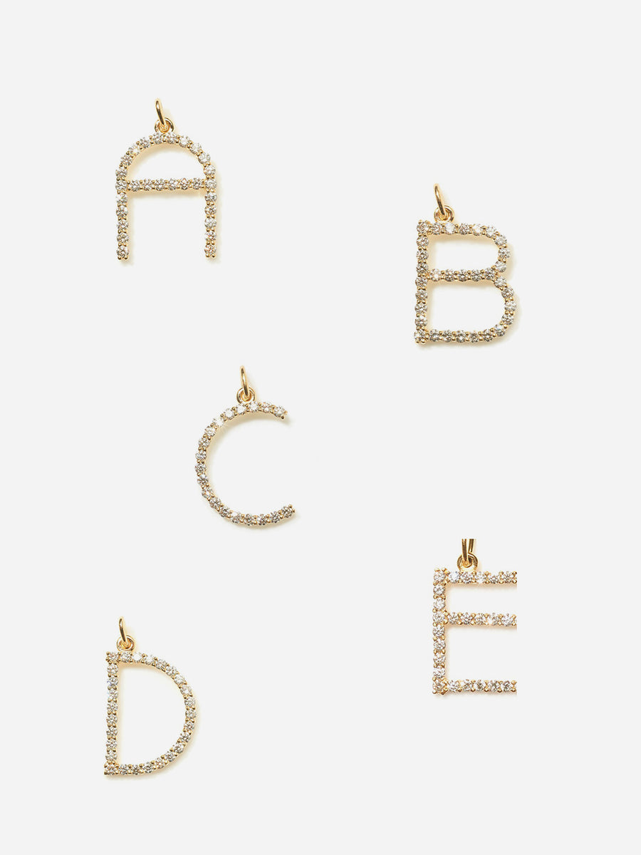 Diamond Letters - Yellow Gold
