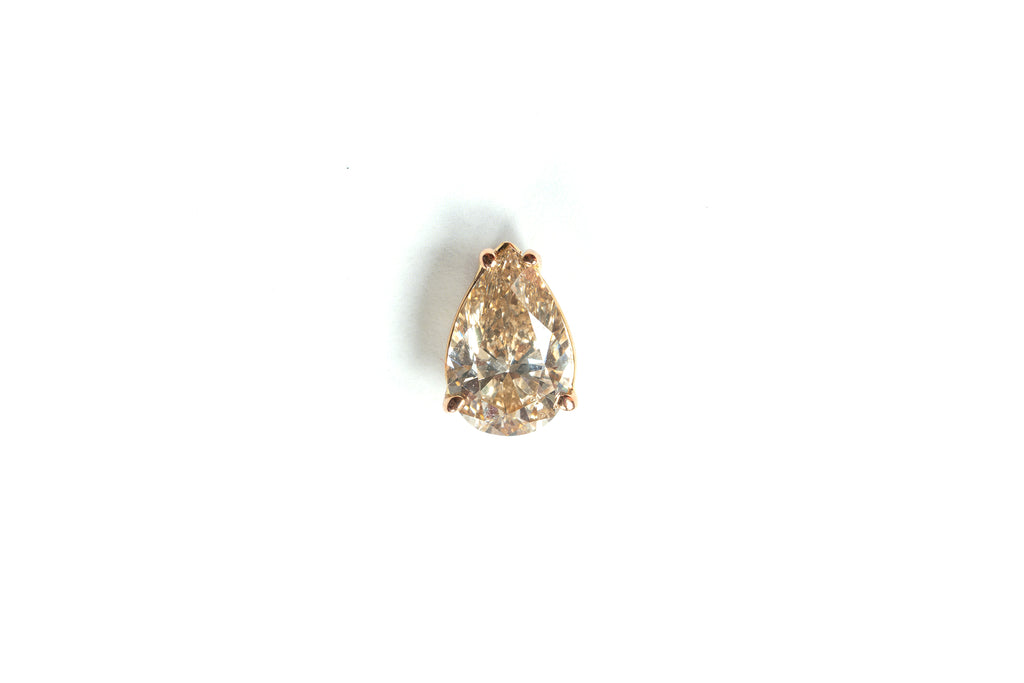 Champagne Diamond Precious Stone Drop