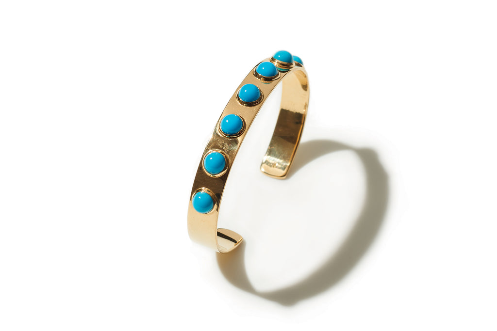 Sleeping Beauty Turquoise Gold Cuff