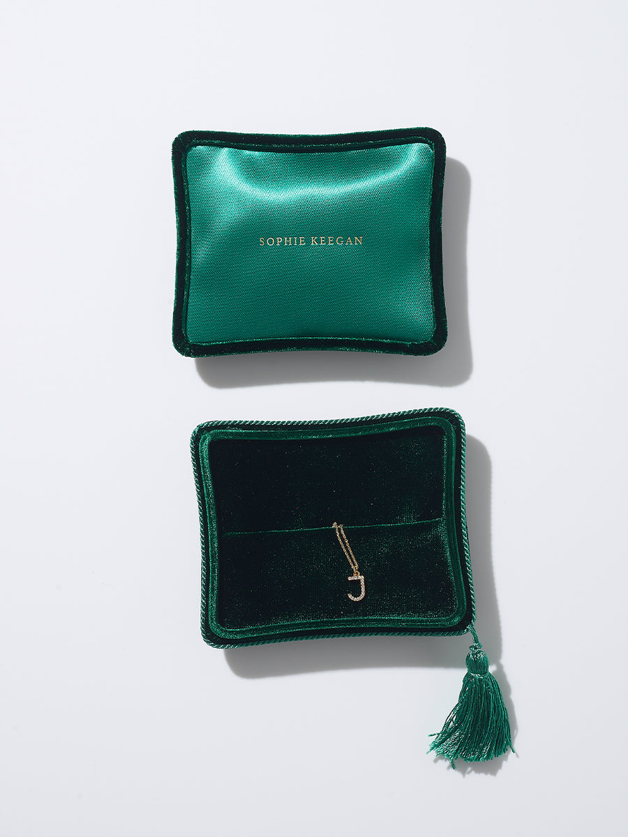 Emerald Velvet Jewellery box