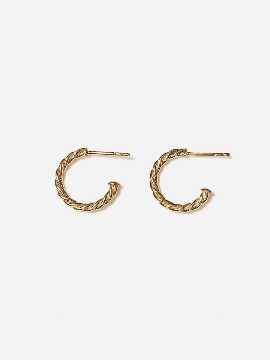 Mini Hoop Earrings - Yellow gold
