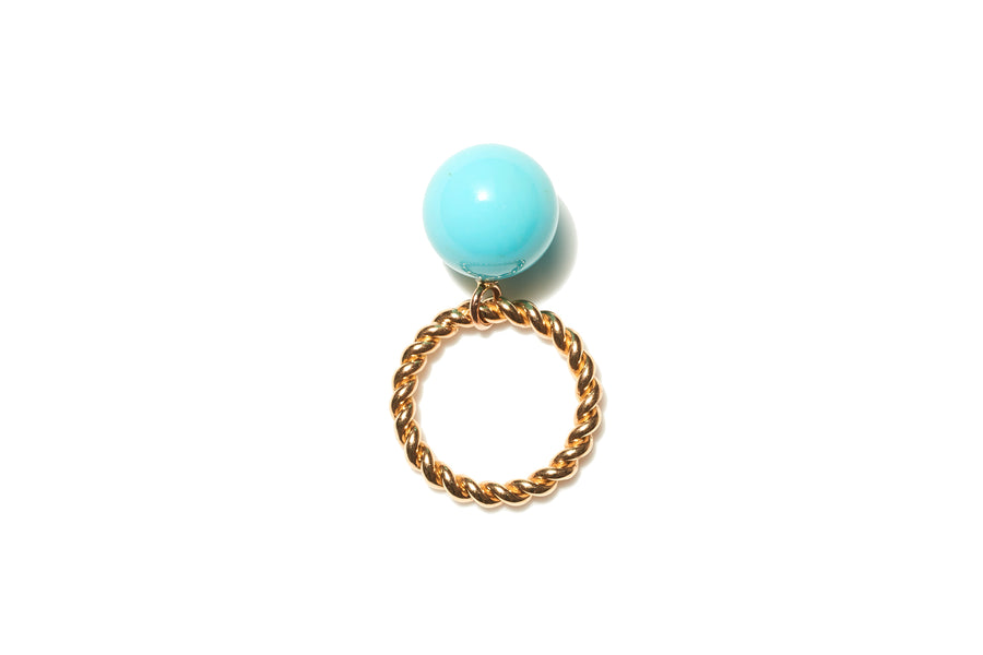 Bobble Rope Ring with Turquoise