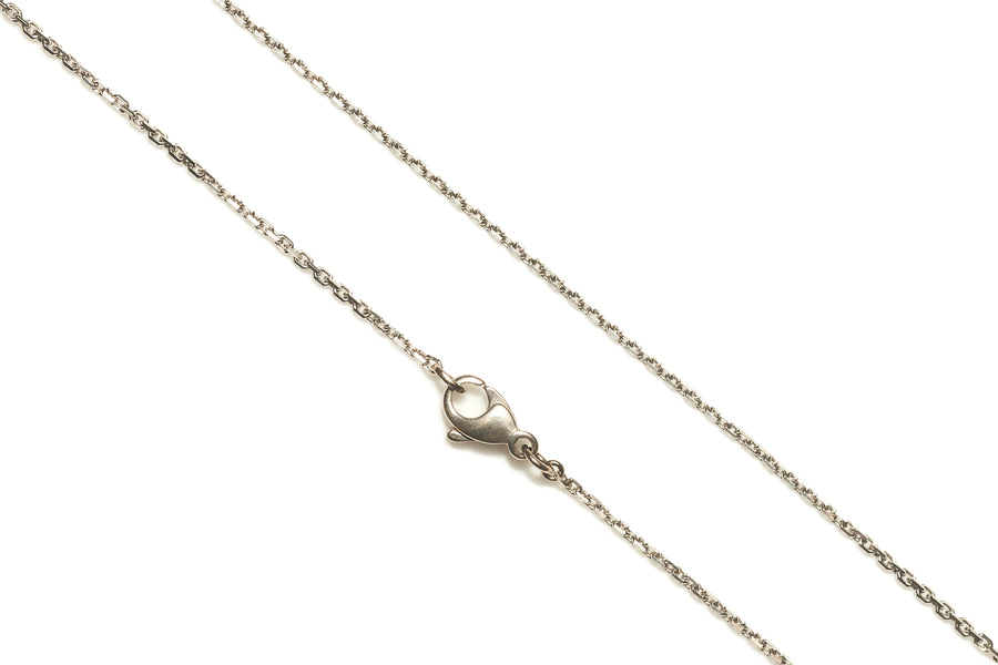 18ct White Gold Diamond Cut Chain