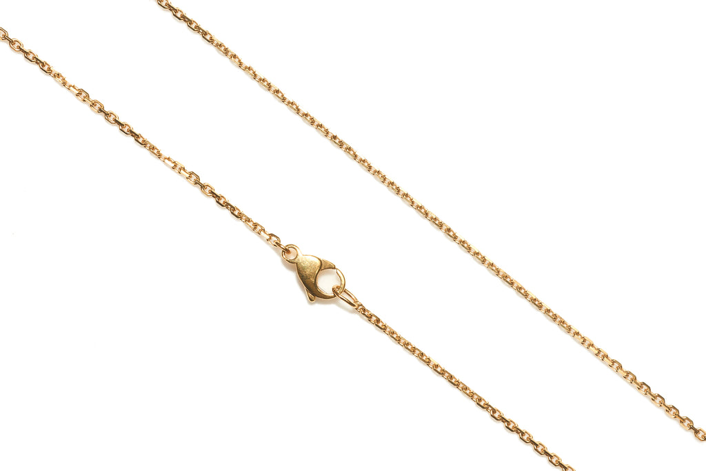 18ct Yellow Gold Diamond Cut Chain