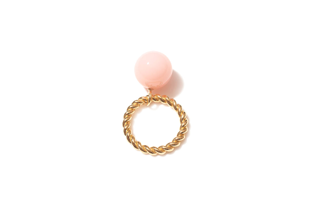 Bobble Rope Ring with Pink Opal