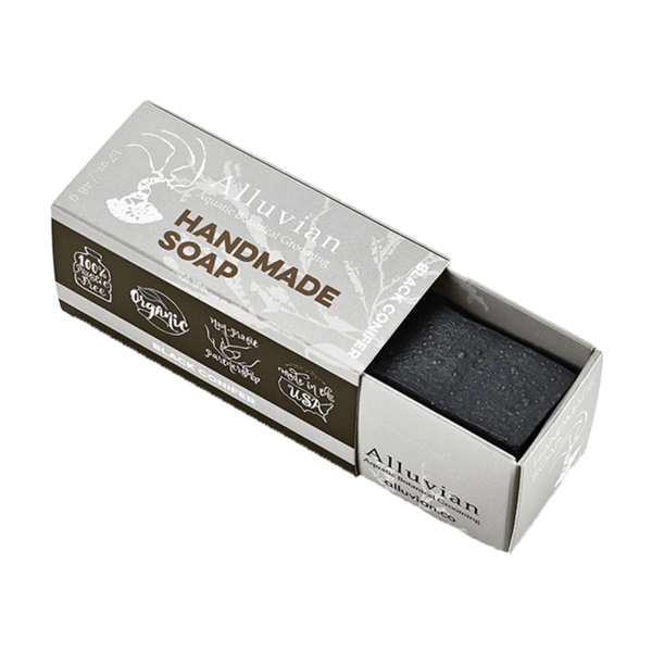 Black Conifer Charcoal Soap - Travel Size - mossybarber.com