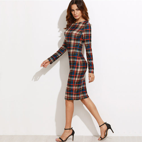 ZOE PLAID DRESS