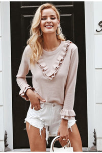 NINA RUFFLE SWEATER