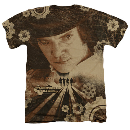 A Clockwork Orange Tortures Of The Damned Men's 30/1 Cotton Poly SS Heather T