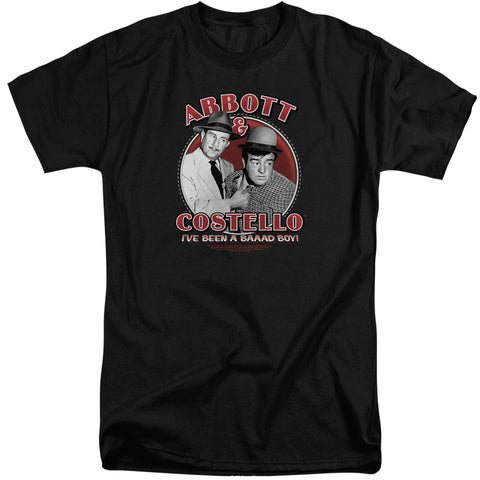 Abbott And Costello Bad Boy Men's 18/1 Tall Cotton SS T