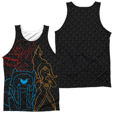 Adventure Time Adventure Trio (Front/Back Print) Men's Regular Fit Polyester Tank Top
